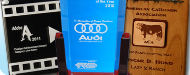 Laser engraving awards