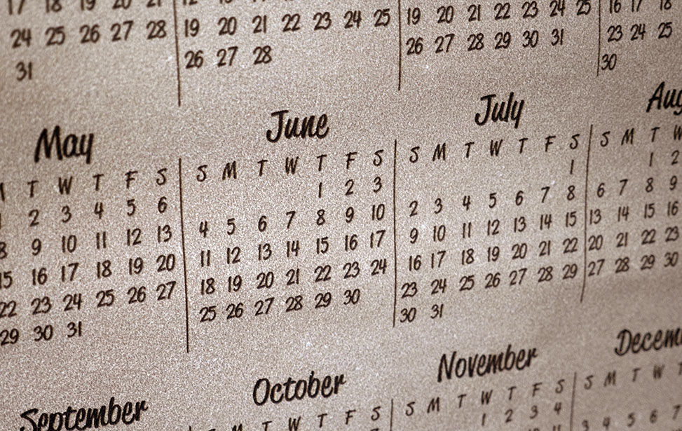 Laser Engraved Leather Calendar