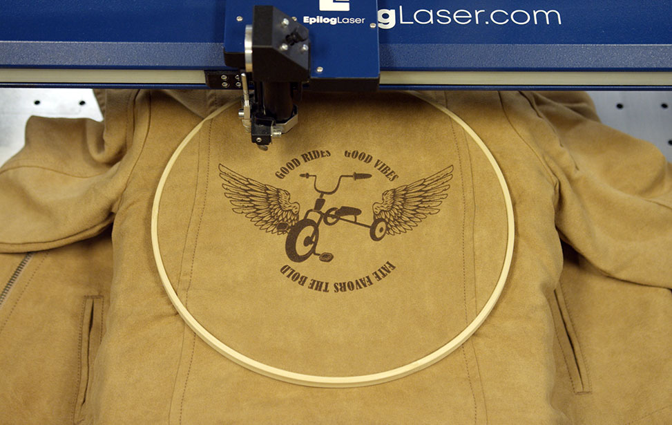 Laser Engraving a Children's Leather Jacket