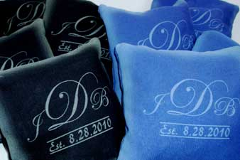 laser etched cornhold bags