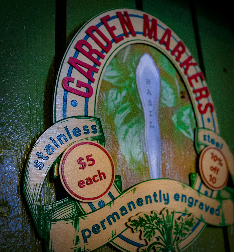 Garden Markers Sign by Donna Diddit