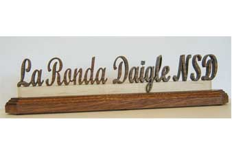 laser cut name plate