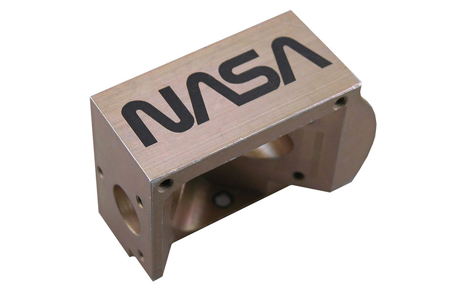NASA Logo Marked with CO2 Laser Marking Spray