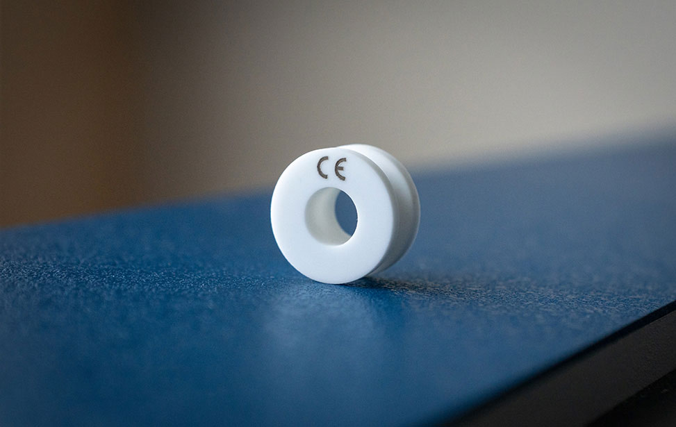 Ceramic Spool Laser Marked with CE Mark