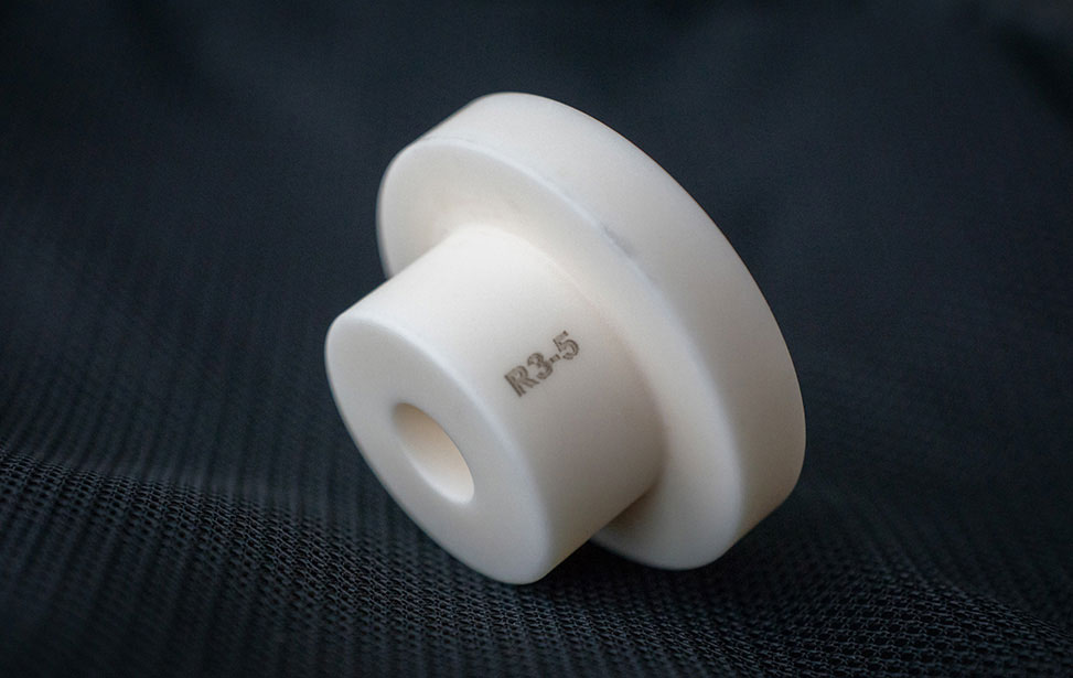 Numbers Laser Marked on Ceramic Part