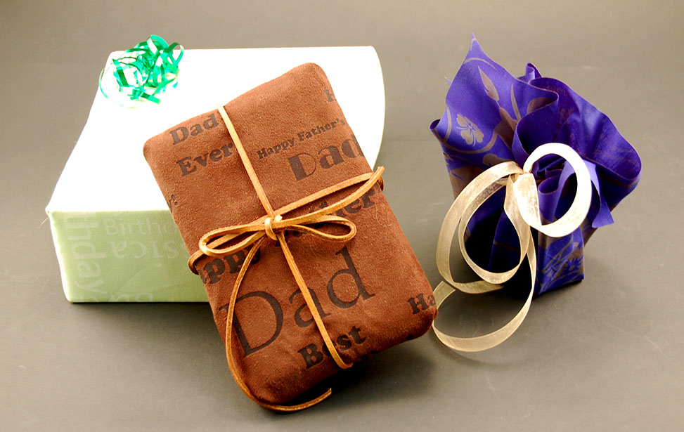 Laser Engraved Fabric Giftwrap
