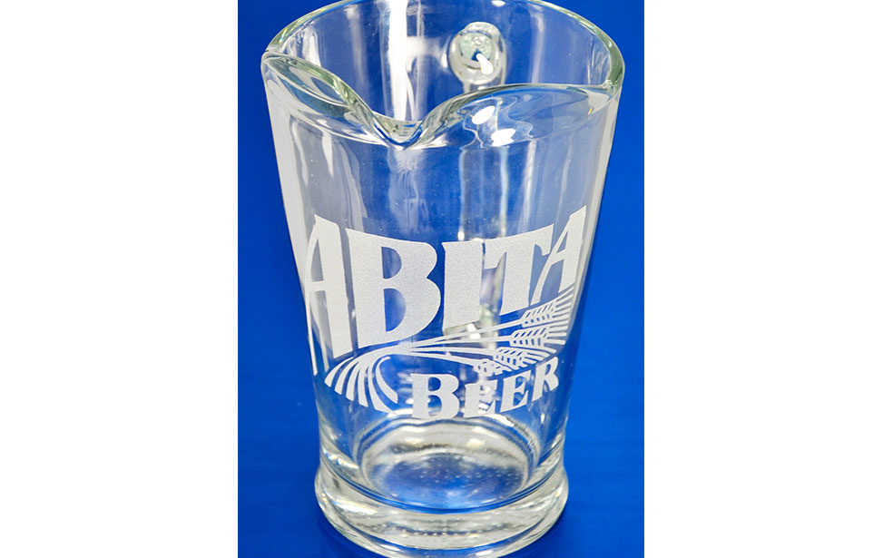 Beer Pitcher Engraved with Laser