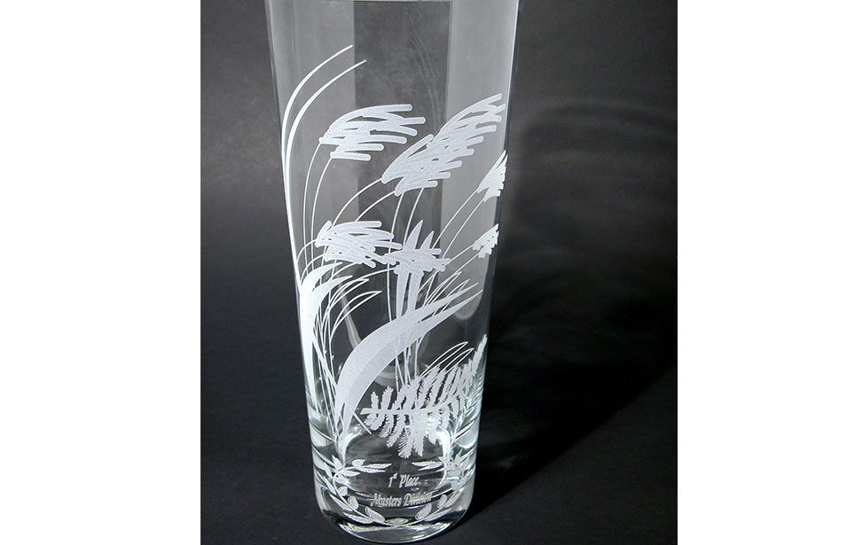 Vase Engraved with Laser