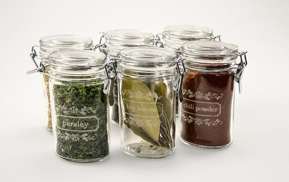 Spice Jars Engraved with Laser