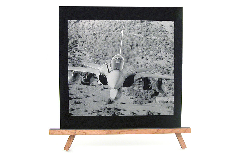 Laser Engraved Photo of a Fighter Jet