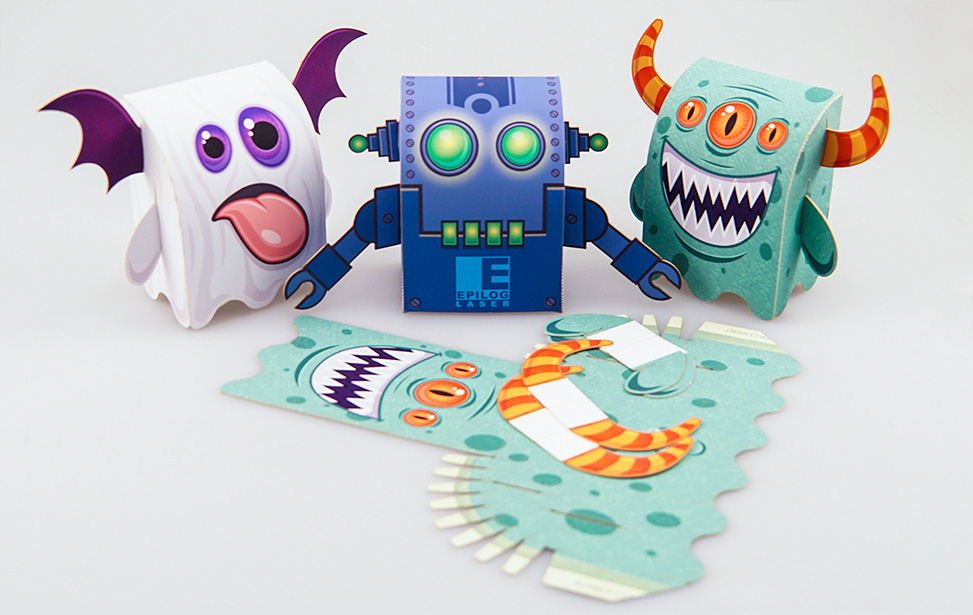 Laser Cut Paper Monsters