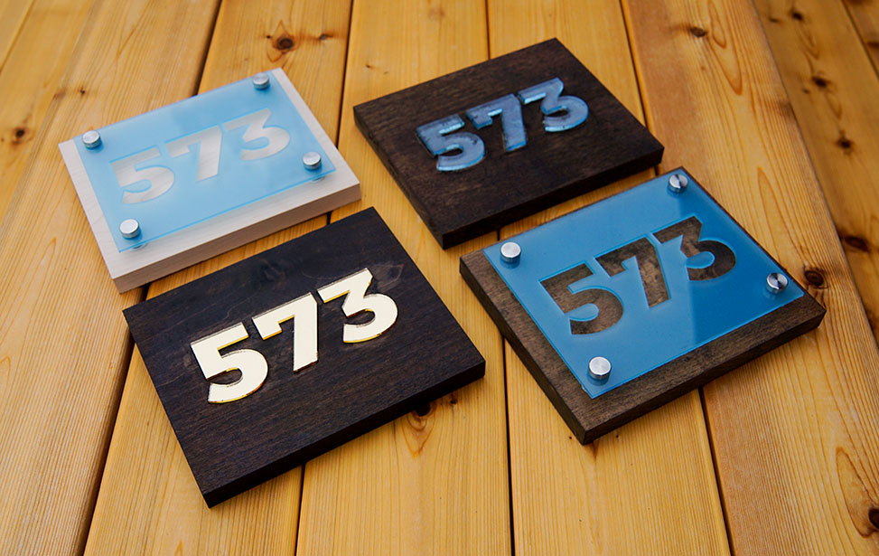 Laser Cut Acrylic Number Signs