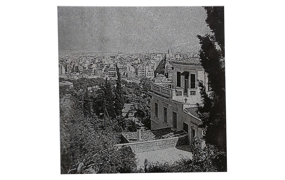City Photo Engraved on Marble