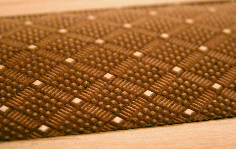 3D Engraved French Braid Texture on Wood