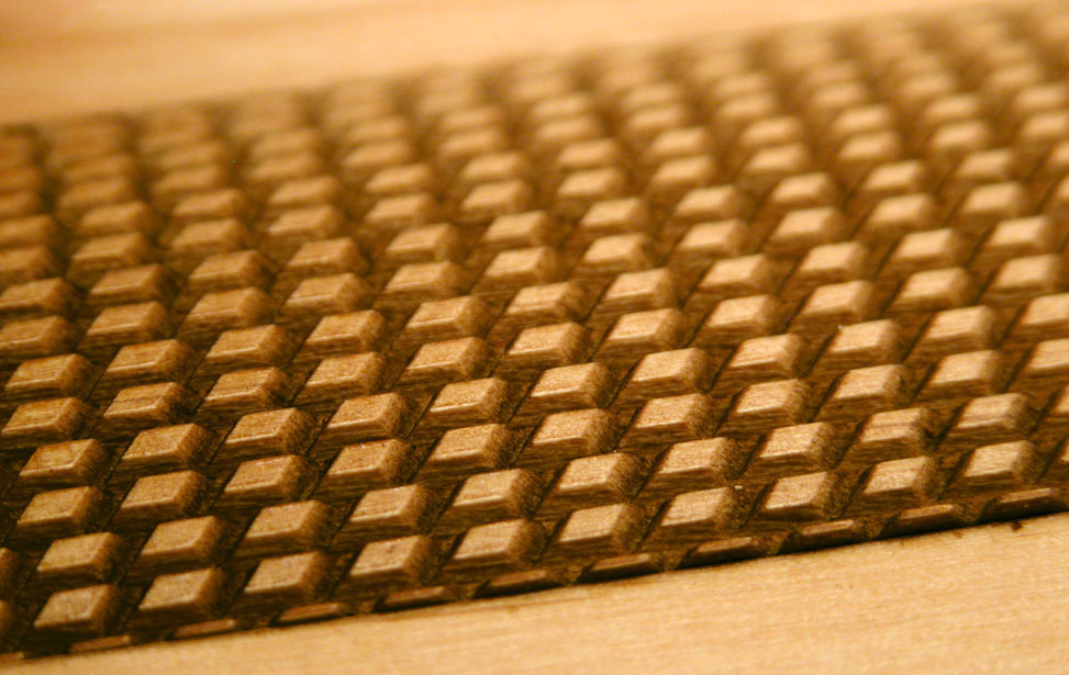 3D Engraved Trapazoid Texture on Wood