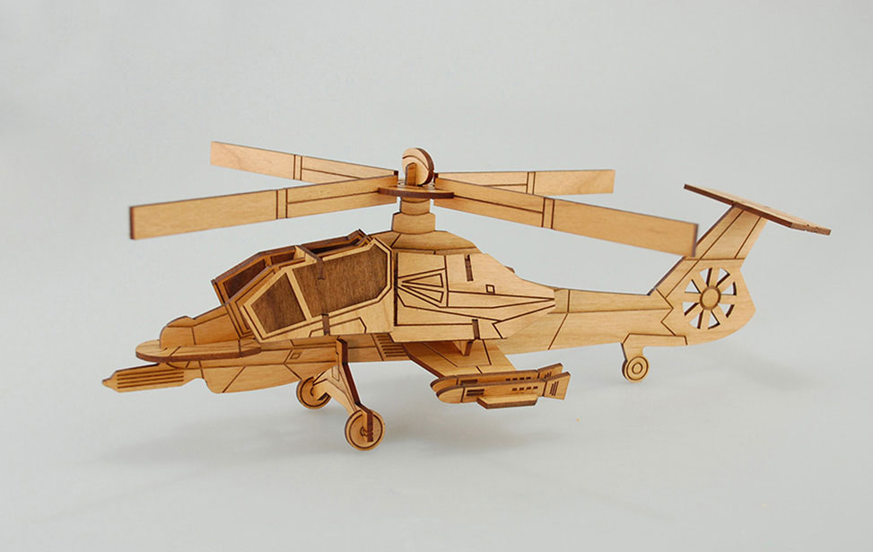 Laser Cut Toy Helicopter