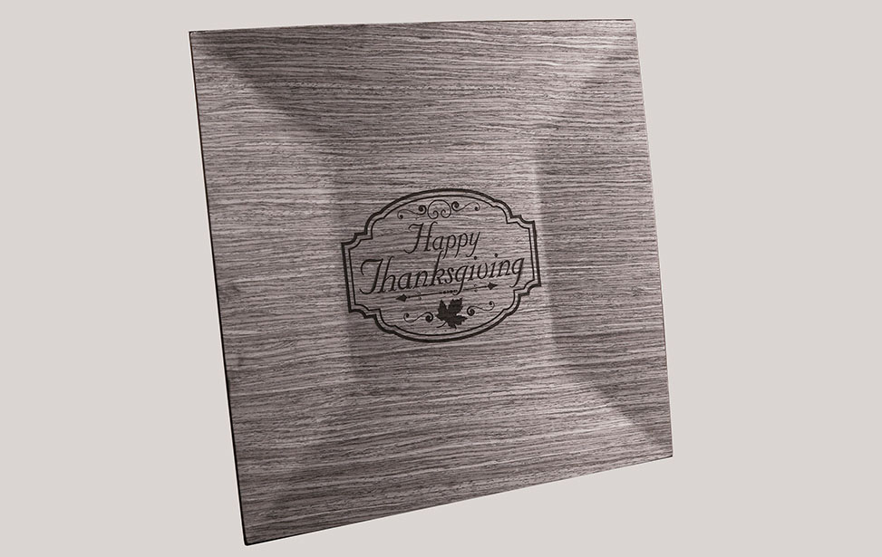 Laser Engraved Wooden Charger Plate