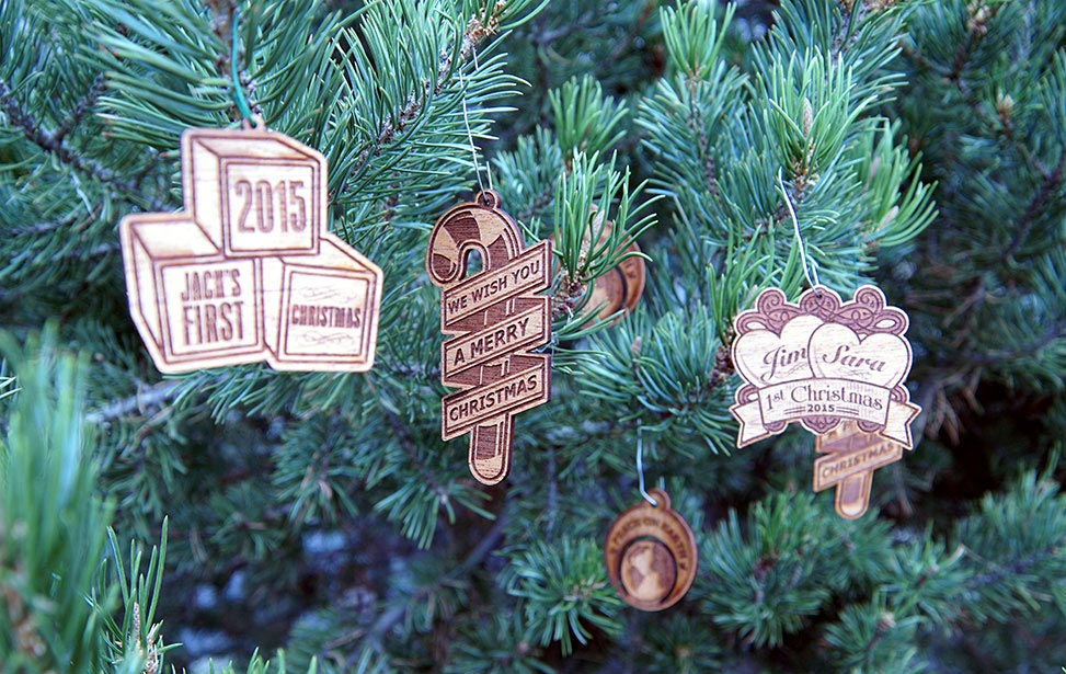 Laser Engraved Wooden Christmas Ornaments