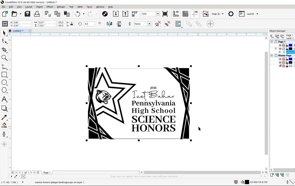 School award design in CorelDRAW