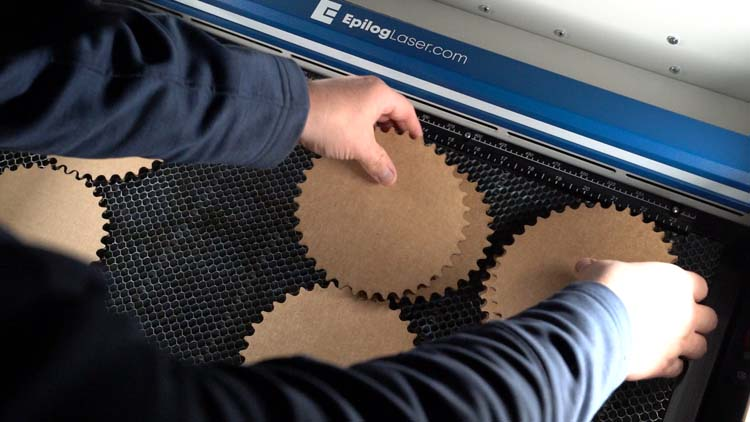 remove the extra laser cut cardboard