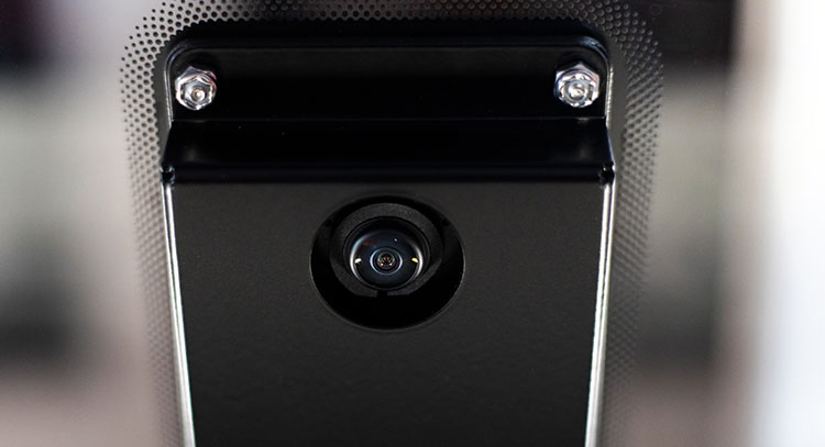 The IRIS™ Camera built into the Fusion Edge's lid.