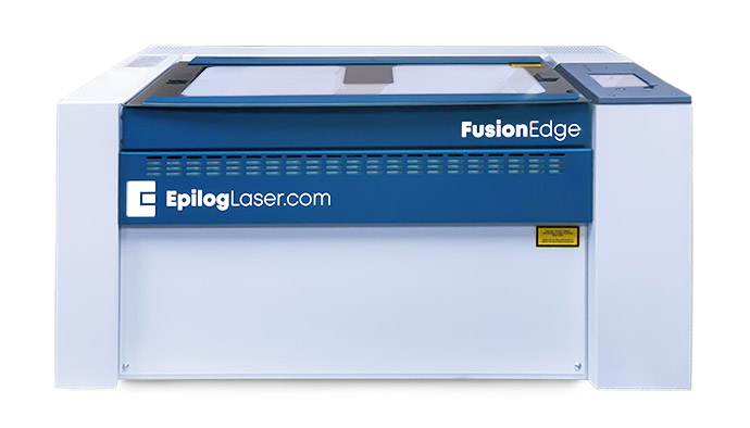 Fusion Edge laser engraver, cutter and marker for production focused companies.
