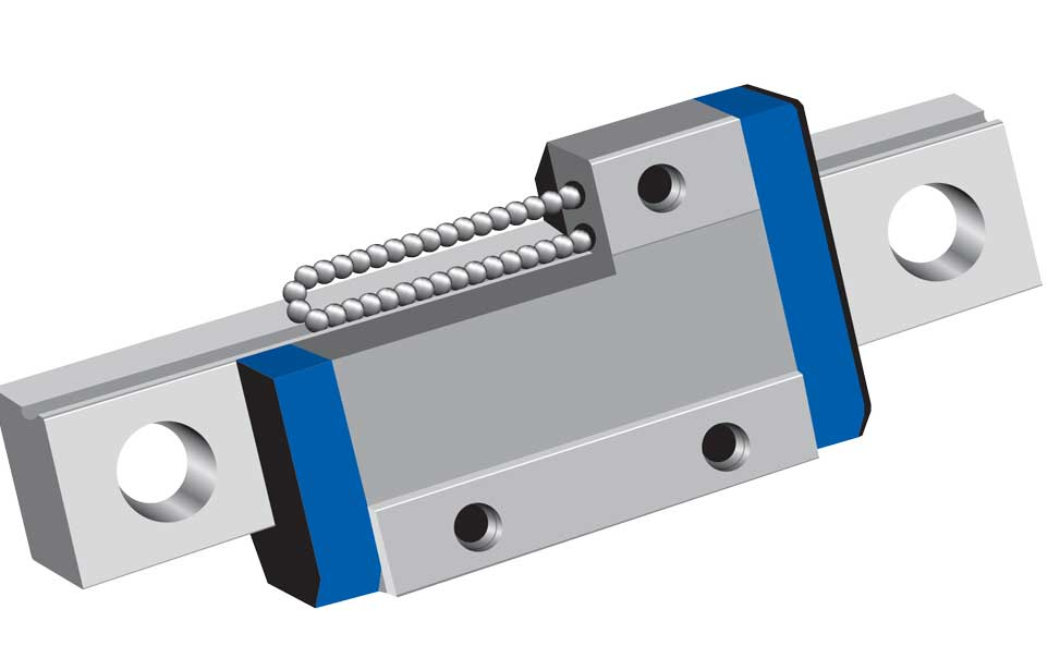 bearing rail system for smooth engraving