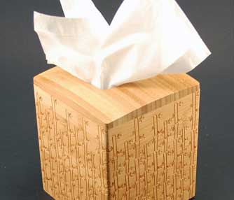 bamboo tissue box engraving