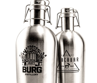 laser engraving stainless steel growlers