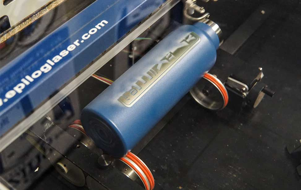 water bottle on rotary attachment