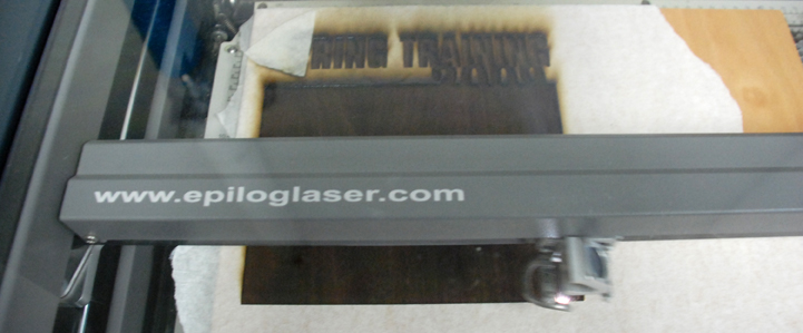 Inlay engraving with a laser