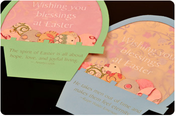 Laser cut Easter card.