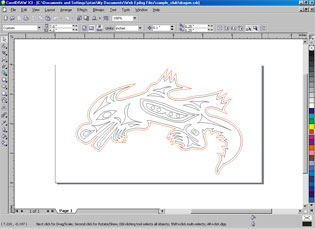 Corel file for the twill cutting.
