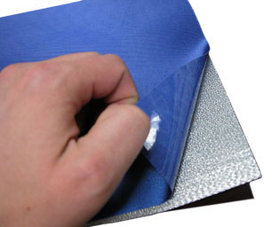 Two levels of sticky-back twill.
