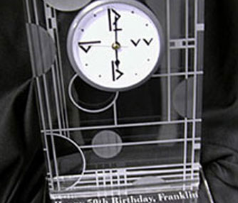 acrylic clock engraving