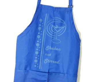 cotton apron engraving.