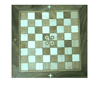 chessboard inlay