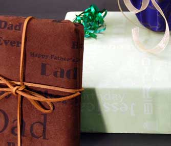 fabric giftwrap engraving