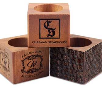 laser engraving wooden napkin rings