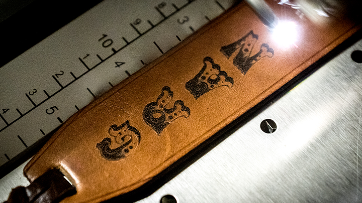 Engraving leather bookmarks