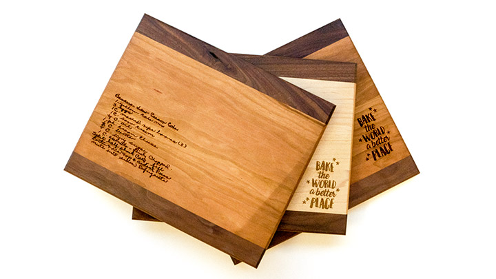 Custom laser engraved cutting boards
