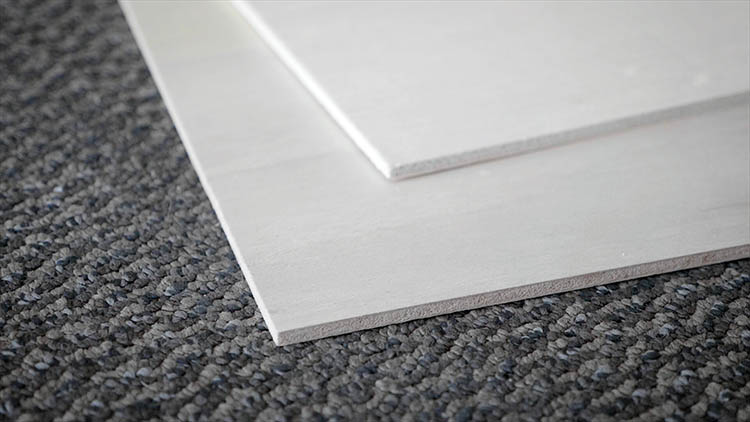 Close-up of two sheets of plywood