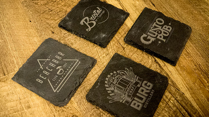 engraved slate coasters
